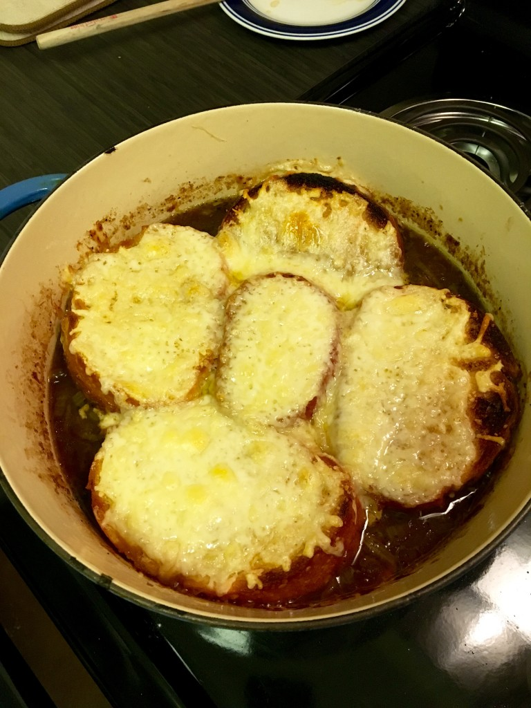 Step 5 - Place pot under the broiler and brown the cheese.