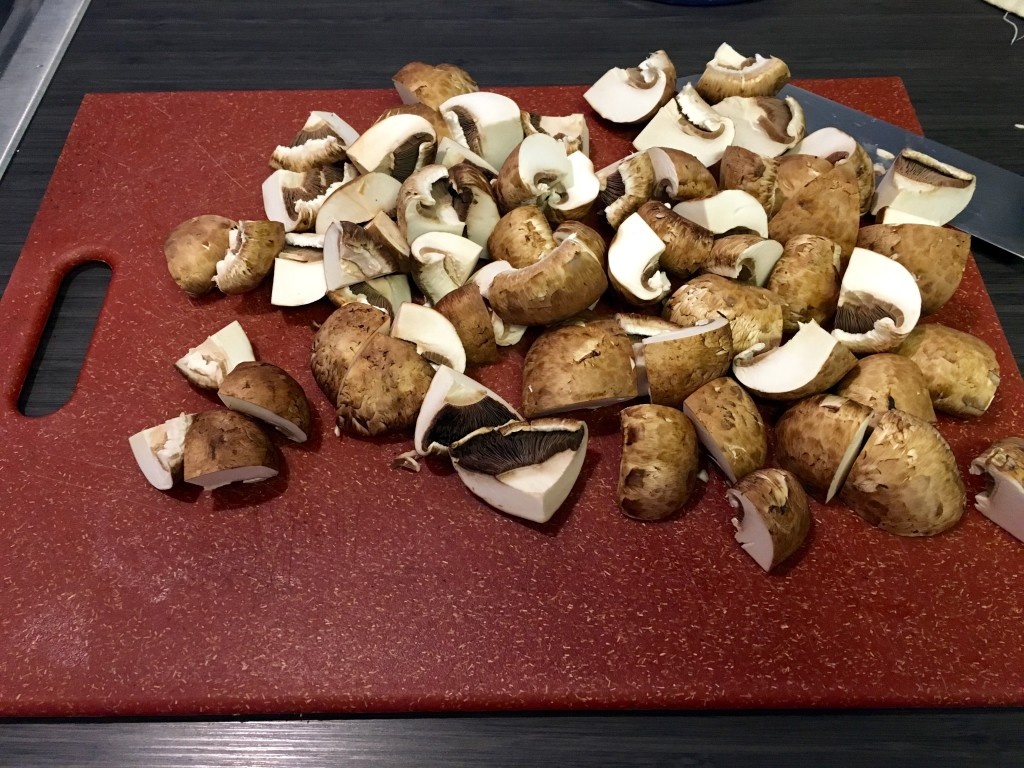 Prep - chop up your mushrooms